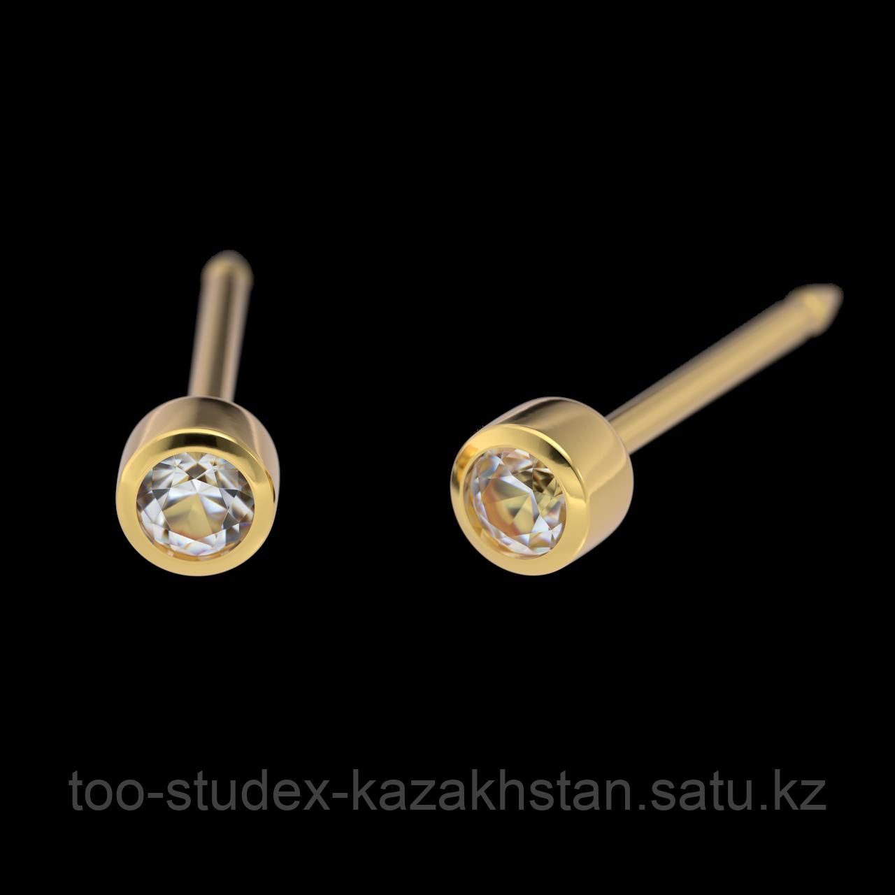 """7531-0204 Серьги-иглы System75™ с цветными кристаллами """"Хрусталь"""""""