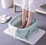 Складная силиконовая ванночка для ног Foldable Foot Bucket., фото 4
