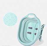 Складная силиконовая ванночка для ног Foldable Foot Bucket., фото 5