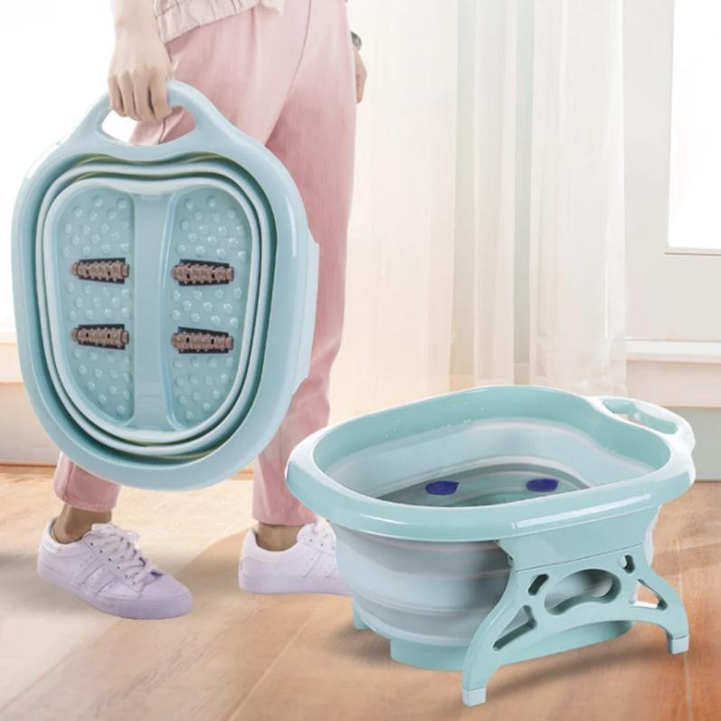 Складная силиконовая ванночка для ног Foldable Foot Bucket.