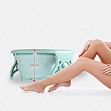 Складная силиконовая ванна для ног Foldable Foot Bucket., фото 5