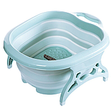 Складная силиконовая ванночка для ног Foldable Foot Bucket., фото 3
