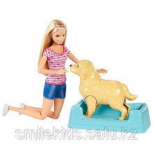 """Барби Игровой набор """"Кукла и собака с новорожденными щенками"""""""