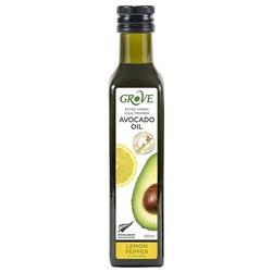 Масло авокадо GROVE с ароматом лимона и перца   , Avocado Oil Extra Virgin  ,250 мл