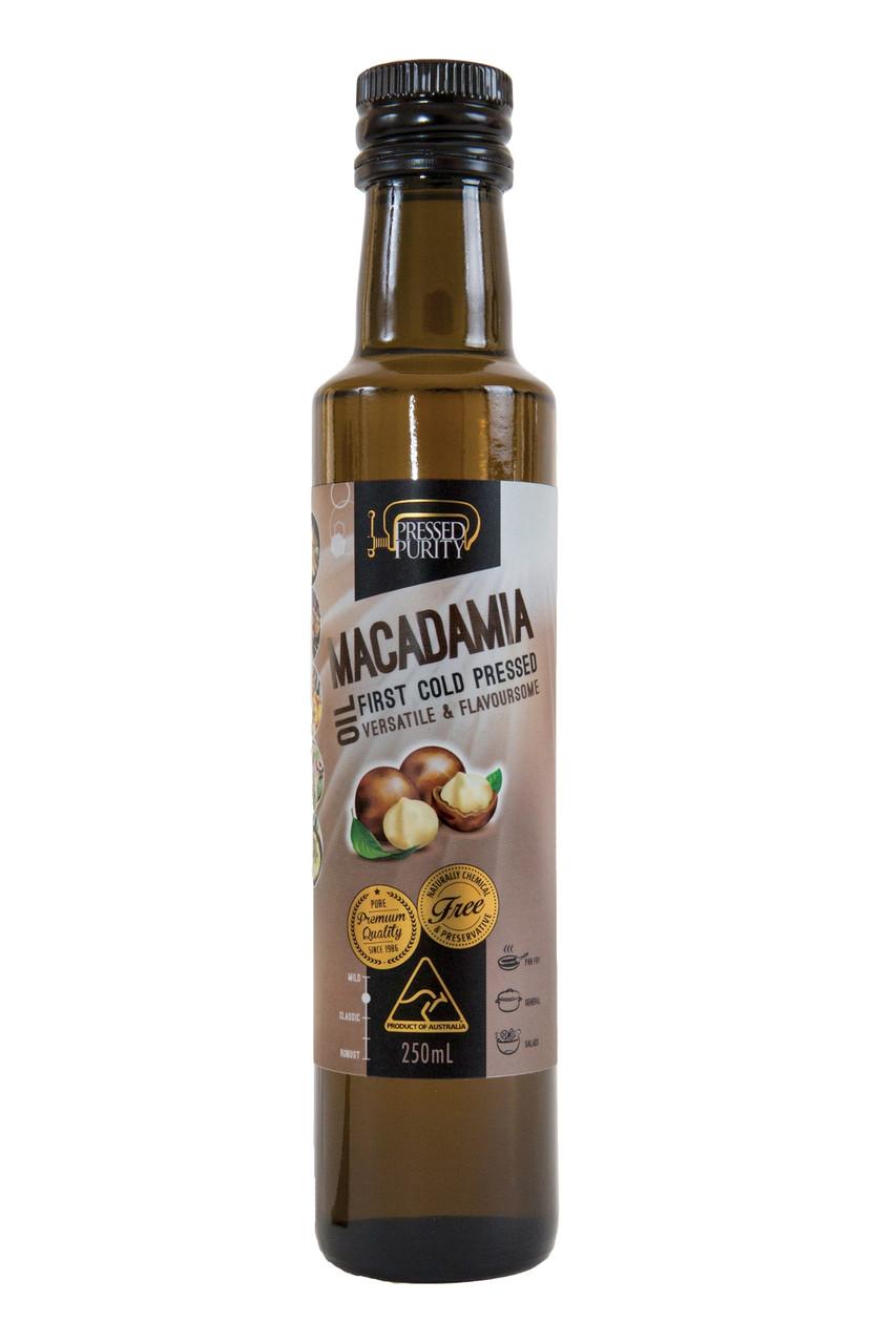 Масло из ореха макадамия нерафинированное ,холодного отжима  Pressed Purity,250 мл
