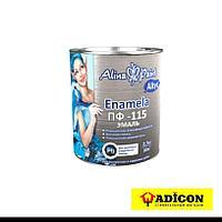 Эмаль ПФ-115 Alina Paint Enamela 2,7кг алкидная белая глянцевая
