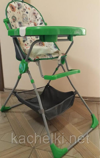 "Стульчик для кормления Selby ""252 Яркий луг"", (зеленый)"