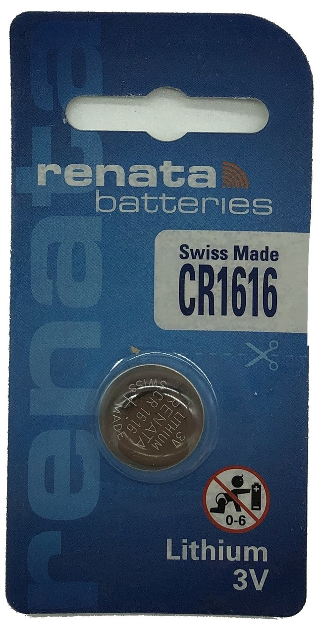 Батарейка CR1616 Renata 50mAh, 1 шт, блистер