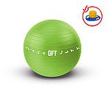 Гимнастический мяч 65 см для коммерческого использования зеленый с насосом (FT-GBPRO-65GN), фото 2