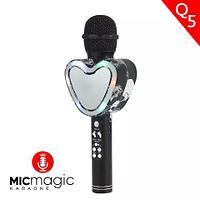 Караоке-микрофон беспроводной Micmagic Q5 с функцией записи голоса и цветомузыкой (Черный)