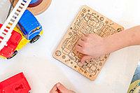 Детская мозаика Тачки - средняя (размер A4) с карандашами 6шт. (из кедра)
