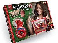 """Комплект для творчества """"Fashion Bag Букет с маками """" вышивка лентами"""