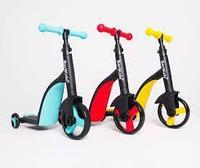 NADLE / Детский самокат-беговел, трехколесный велосипед повышенной устойчивости, трансформер 3 в 1, фото 1