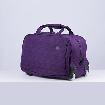 Сумка дор на колесах 9083 Стиль, 50*27*30, отд на молнии, н/карман, фиолетовый