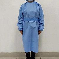 Халат хирургический нестерильный, одноразовый плотные 40 гр. материал смс 1 шт/уп.