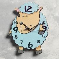 Часы настенные 'Ягнёнок', d23.5, плавный ход