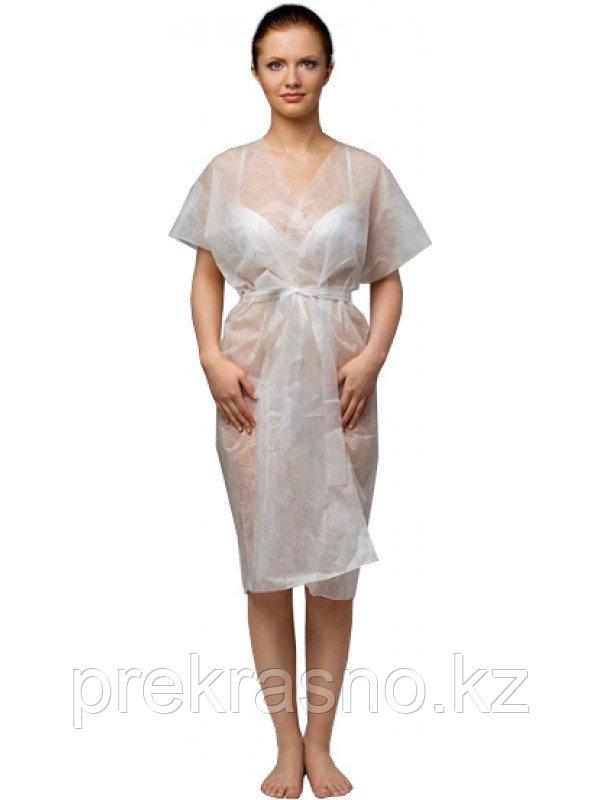 Халат-кимоно 10шт спандбонд одноразовый белый Ч