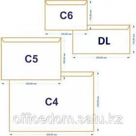 Конверт C4 229х324мм с отр. полосой, по коротк стороне, окно 40х105 мм, с правой стороны, белый