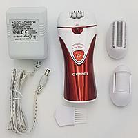 Эпилятор 3 в 1 с насадкой бритва и пемза электробритва женская Gemei G