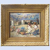 «Сестры» Vincenzo Irolli. (1860-1949). Италия