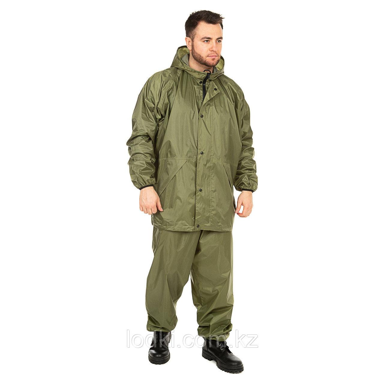 Костюм дождевик ВВЗ Шторм цвет Зеленый ткань Таффета PVC 20000мм Размеры от44до64 - фото 1