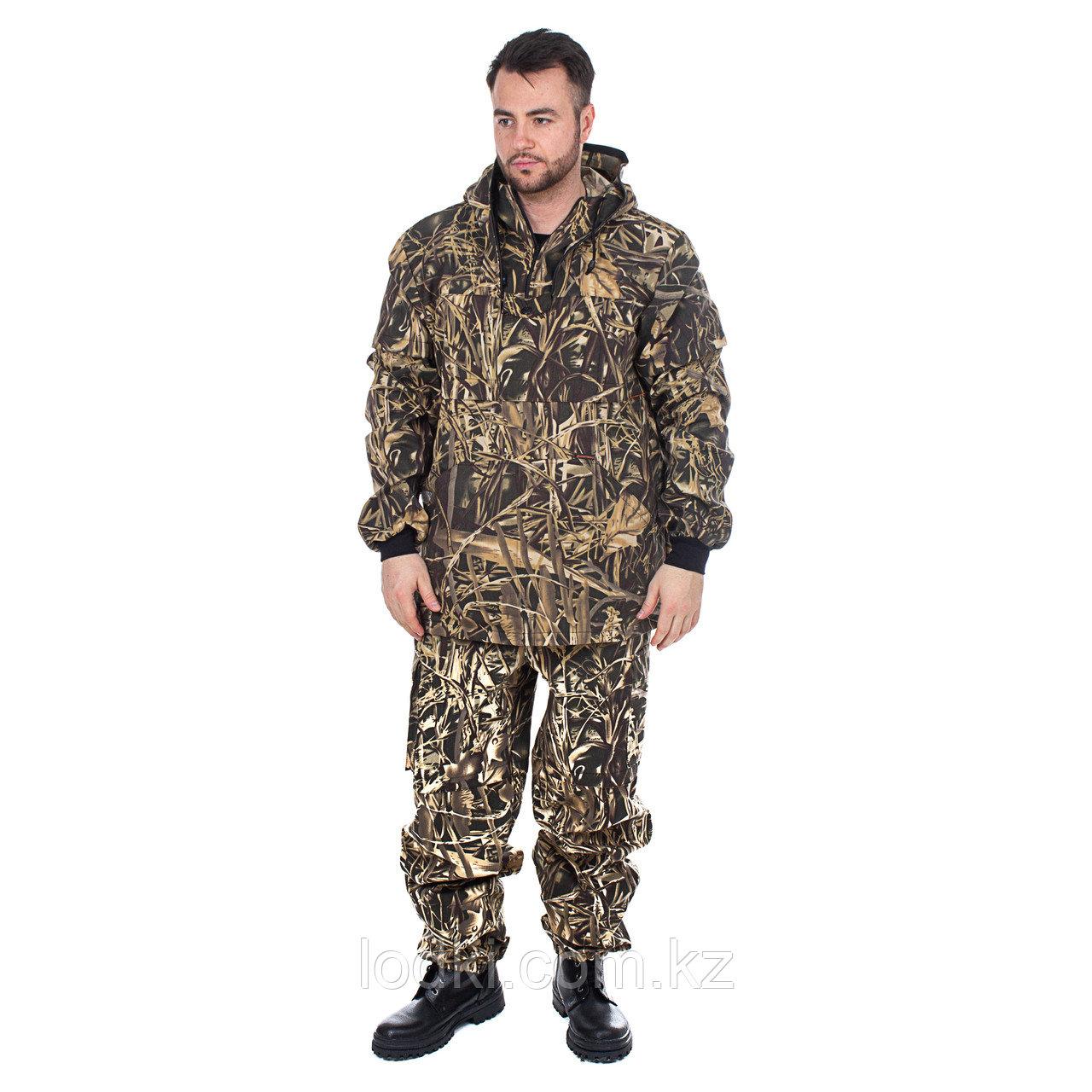 Костюм летний для охоты и рыбалки Антигнус-Люкс пыльниками цвет Камыш ткань Смесовая Размер от44до64 - фото 1