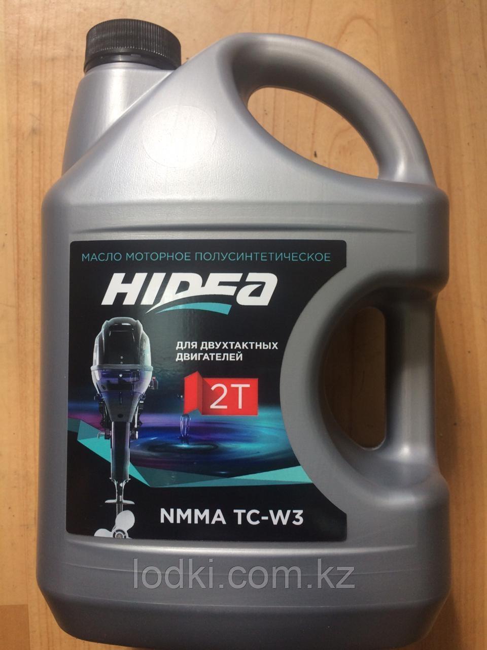 Масло для подвесных лодочных моторов hidea 2t nmma tc-w3 3л - фото 1