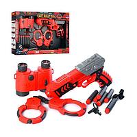 Детская игрушка набор полицейского: пистолет, патроны, бинокль, наручники Модель: NO.FJ922