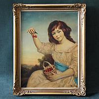«Девочка с вишнями» Холст, масло.