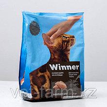 Сухой корм Winner для взрослых кошек всех пород из курицы 2 кг
