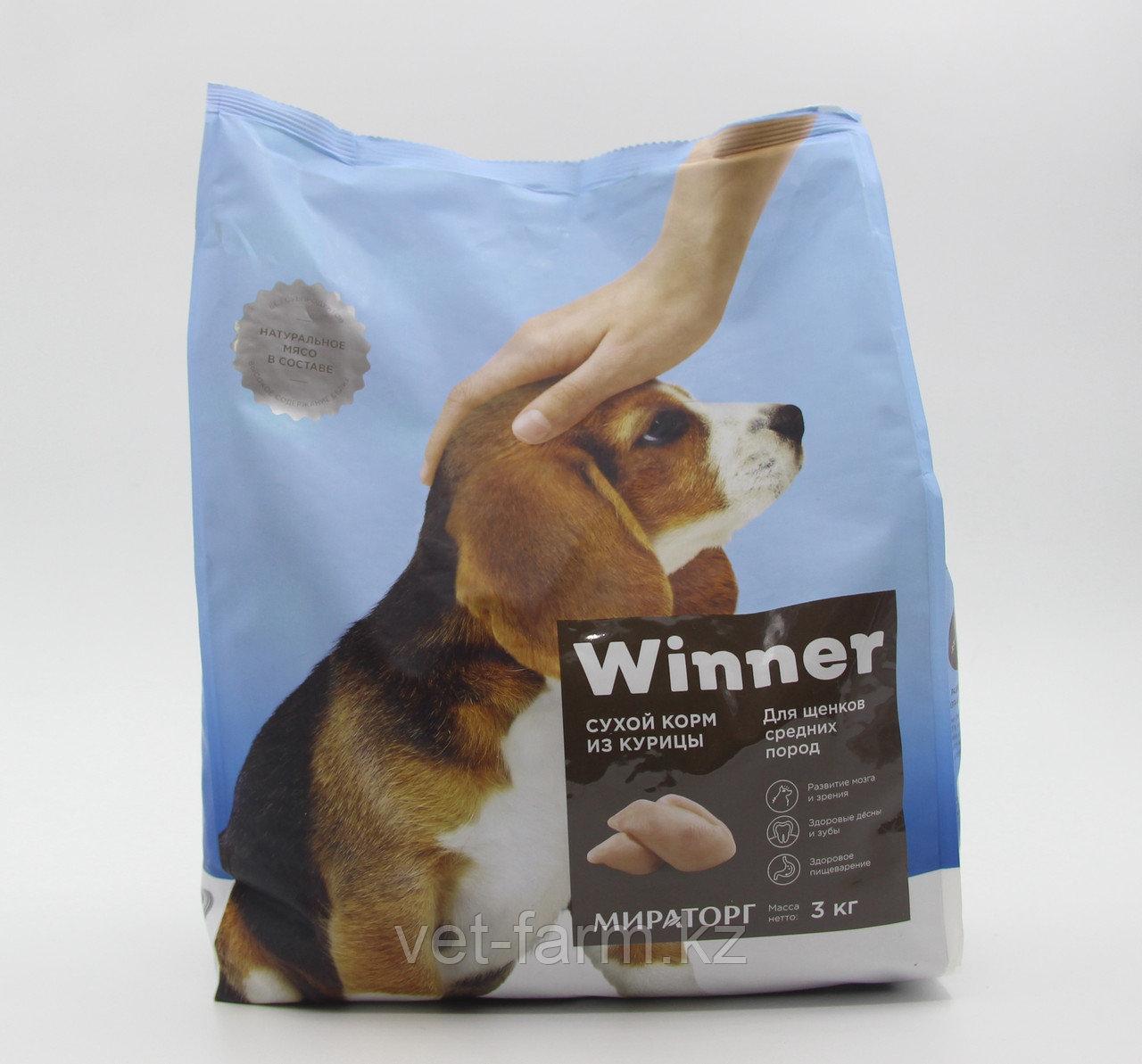 Сухой корм для щенков средних пород  Winner 1 кг из курицы