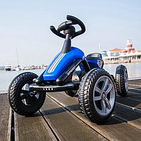 Педальный картинг Go Kart синий, фото 1