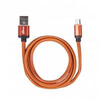Дата кабель Ritmix RCC-415 MicroUSB 2.5 A Leather Orange