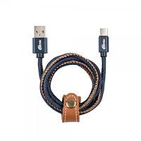 Дата кабель Ritmix RCC-437 Type-C 2.0 A Jeans Black-Brown