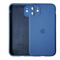 Чехол накладка Silicone Case для Apple iPhone 11 Blue