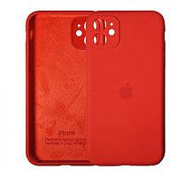 Чехол накладка Silicone Case для Apple iPhone 11 Red