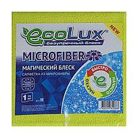 """Салфетка микрофибра """"ECOLUX MICROFIBER"""" плотная, 1 шт."""