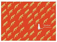 Тетрадь 48л А5 тисн. фолг. золото -Золотые кошки- Эксмо 6744