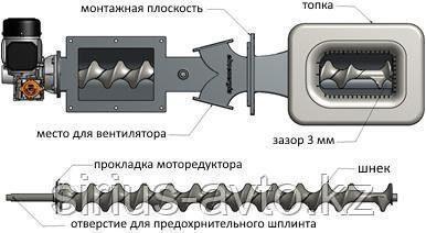 Ekoenergia 10 кВт Твердотопливная горелка для автоматического котла с вентилятором