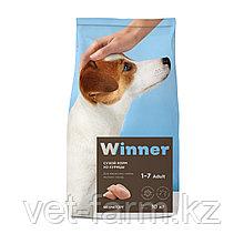 Сухой корм для собак Winner для взрослых собак мелких пород из курицы 10 кг