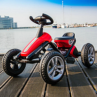 Педальный картинг Go Kart красный