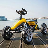 Педальный картинг Go Kart желтый, фото 1