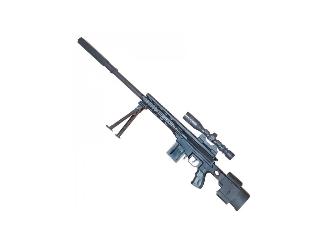 Детская снайперская пневматическая винтовка стреляет пластиковыми пульками 6 мм модель:NO.646-2 - фото 2