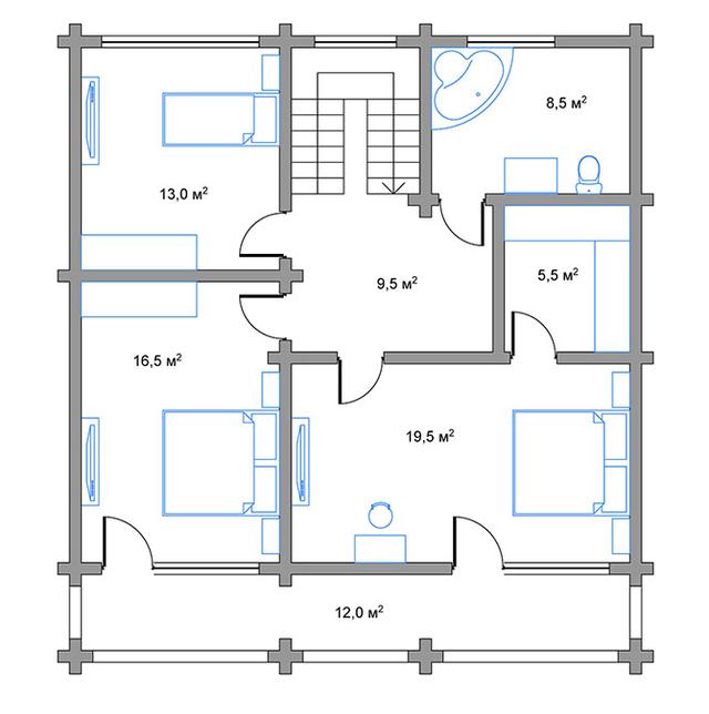проект дома с террасссой, план двухэтажного дома и строительство под ключ, проектирование и строительство деревянных домов.
