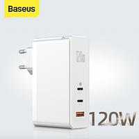 Зарядное устройство Baseus GaNFast 120W белый