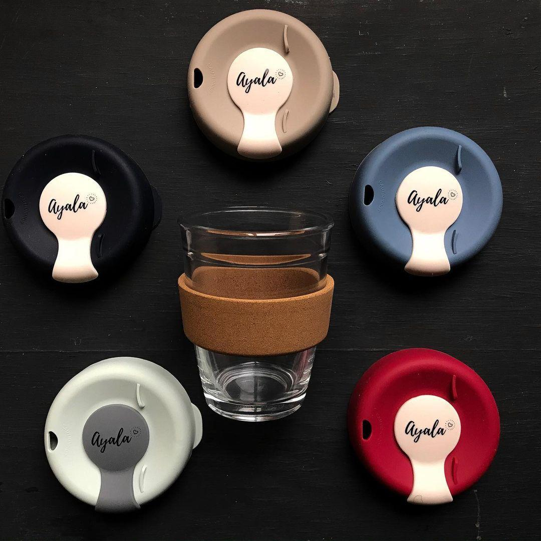 Многоразовый стеклянный стакан для кофе