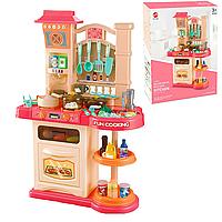 Детская интерактивная кухня 838A красный 76см, фото 1