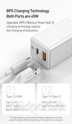 Зарядное устройство Baseus CCGAN45UE  45W, фото 2
