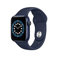 Apple watch series 6 44mm blue aluminium case with sport band синий