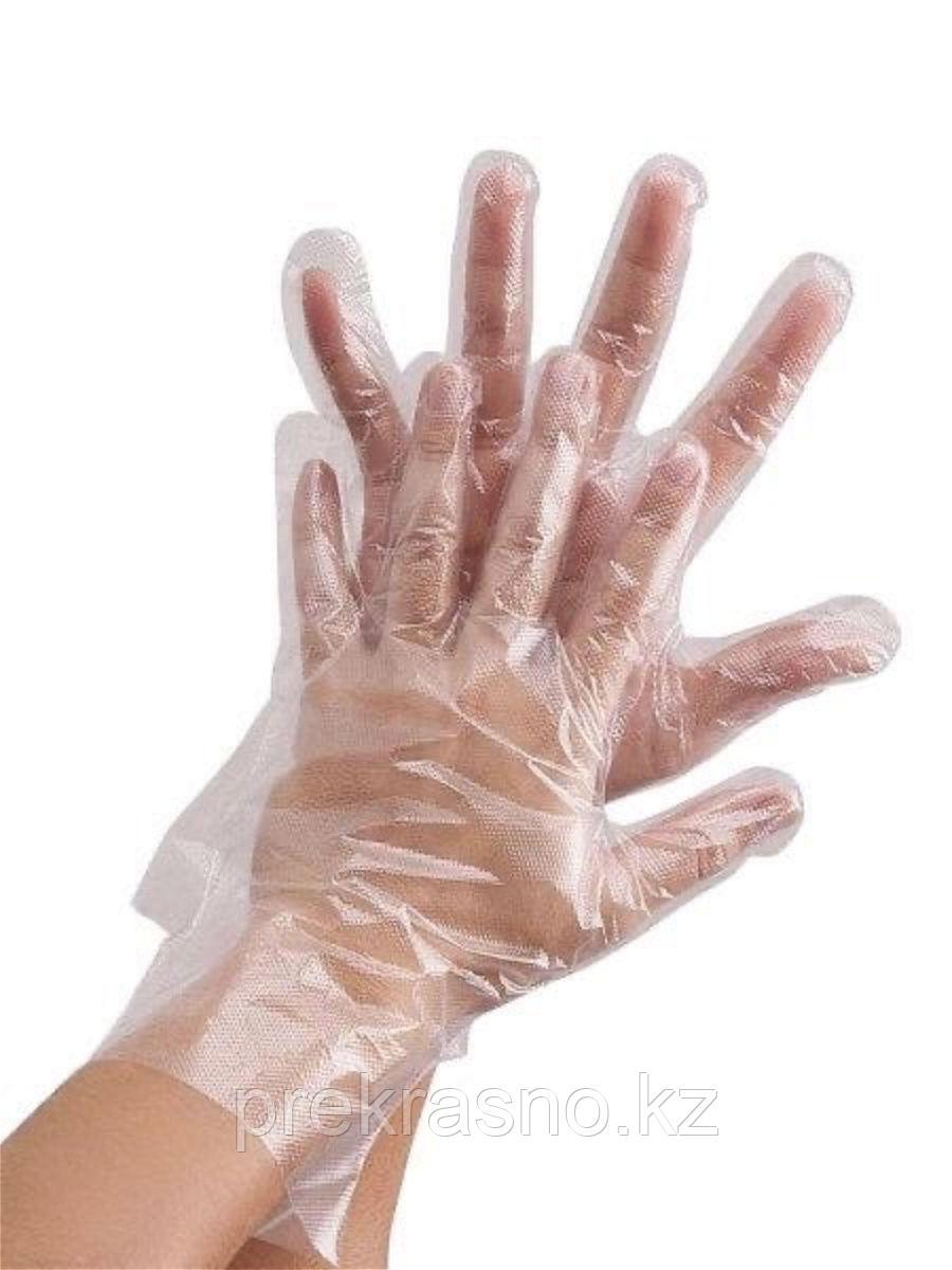 Перчатки 100шт полиэтиленовые универсальные